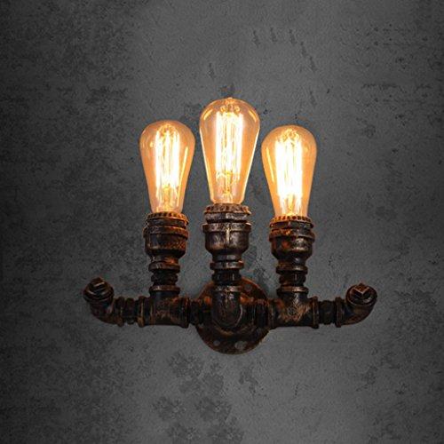 Europäische Retro-Wandleuchte Gang Treppe Lampe kreative Restaurant Bar dekoriert Wandlampe drei Bronzerohre