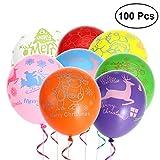 TOYMYTOY 100 Stück Weihnachten Luftballons Heliumballons Party Deko Ballon 12 Zoll