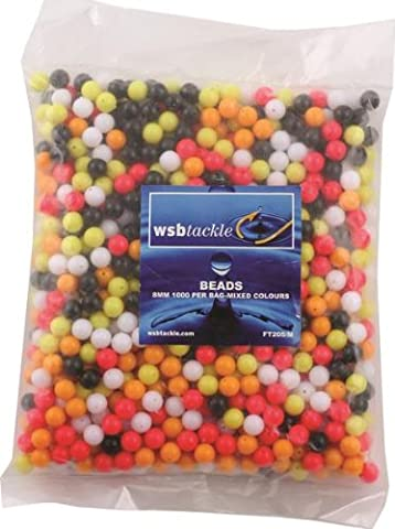 Float Beads 8mm Mixed Colours 1000 per pack