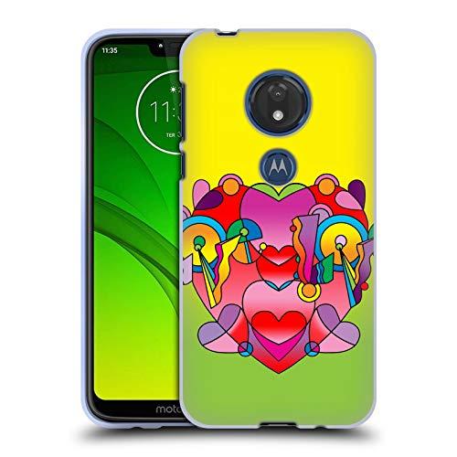 Head Case Designs Offizielle Howie Green Liebe Farben Herzen Soft Gel Huelle kompatibel mit Motorola Moto G7 Play