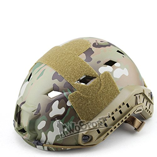FAST BJ Tactical ABS Kunststoff Airsoft Multicam Schutzhelm - Advanced - Camo Airsoft Helm