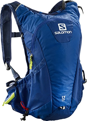 SALOMON BAG AGILE 12 SET - Mochila , Unisex adultos , Azul - (Surf The Web/Acid Lime/Dress Blue)