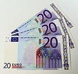 Geschenkartikel 1 Stück '20er Euro-Ersatz-Schein' 125%, einseitig, Spielgeld (blau) - andere Mengen im Amazon-Shop