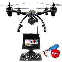 Dazhong Quadcopter Drone avec 5,8 GHz en temps réel FPV Transmission moniteur One-Key-retour Headless 2.4G 4Ch 6-Axis RC Quadcopter + batterie supplémentaire