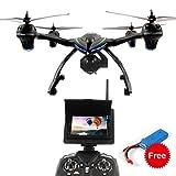 Dazhong Quadcopter Drone con 5,8 GHz in tempo reale FPV di trasmissione Monitor One-Key-ritorno senza testa 2.4G 4Ch 6-Axis RC Quadcopter + batteria extra immagine