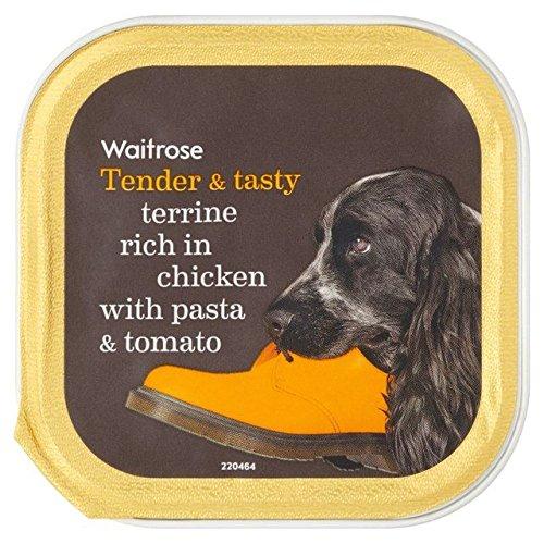 tendre-et-savoureuse-terrine-riche-en-poulet-avec-des-pates-et-tomate-waitrose-150g-lot-de-6