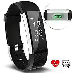Fitness Tracker Aneken Smart Bracelet Tracker With Heart Rate Monitor Activity Tracker Bluetooth Pedometer With Sleep Monitor Smartwatch For Android Iphone Samsung Smartphones