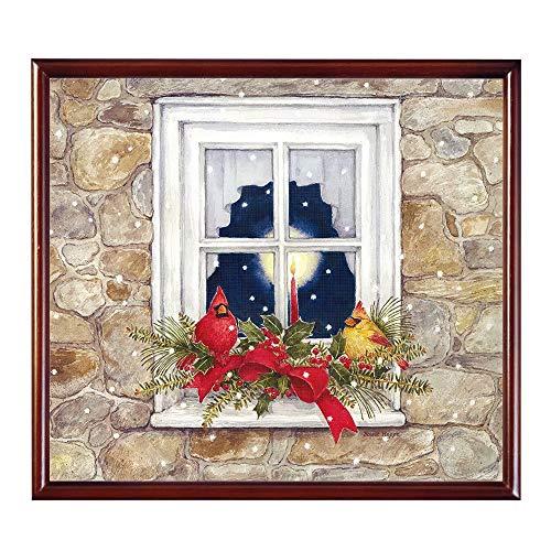 hotpaint 5D Diamant Malerei Kits Weihnachten Kreuzstich Muster Öl Malen nach Zahlen für Erwachsene Bilder Arts Craft für Home Wand-Decor, Santa Claus und Geschenke , Weihnachten 17.7x17.7inch color13