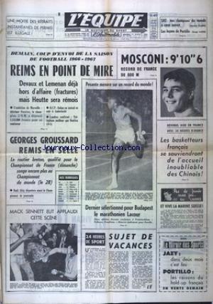 EQUIPE (L') [No 6340] du 17/08/1966