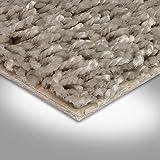 BODENMEISTER BM72231 Teppichboden Auslegware Meterware Hochflor Shaggy Langflor Velour grau beige 400 und 500 cm breit, Verschiedene Längen, Variante, 5,5 x 5 m