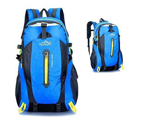Zbxff zaino - zaino per escursionismo, campo impermeabile, indossabile, pieghevole, leggero - zaino da donna per uomo,blue