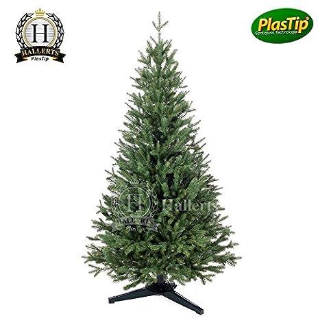 PREMIUM Spritzguss Weihnachtsbaum 120 cm Nobilistanne Edeltanne Christbaum Spritzgusstanne Kunsttanne Tannenbaum Original Hallerts