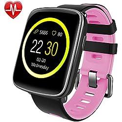 Montre Connectée pour iPhone et Android,Willful SW018 Smartwatch étanche IP68 Montre Sport (Podomètre,Cardiofréquencemètre,Sommeil) avec Réveil, Chronomètre, Appel SMS Afficher pour Femme Homme Enfant