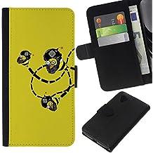 All Phone Most Case / Offre Spéciale Cuir Portefeuille Étui de protection Housse Coque / Leather Wallet Case for LG Nexus 5 D820 D821 // Funny Lol Troll Bee Bombs Wtf
