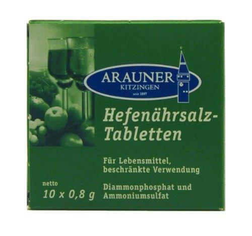 Arauner Kitzinger Hefenährsalz-Tabletten (10x0,8g)