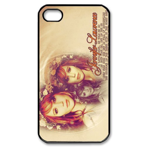 LP-LG Phone Case Of Jennifer Lawrence For Iphone 4/4s [Pattern-6] Pattern-1