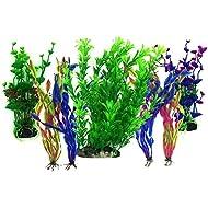 Artificial Aquatic Plants, PietyPet 7 Pcs Large Aquarium Plants Plastic Fish Tank Decorations, Vivid Simulation Plant Creature Aquarium Landscape