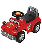 #9: EZ' PLAYMATES BABY RIDE ON JEEP RED