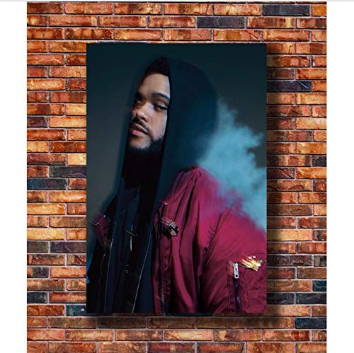 RUIYAN Canvas Pictures Weeknd Trilogy Rap Music Star Personalizzato Art Poster Home Decor 40Cmx60Cm Senza Cornice