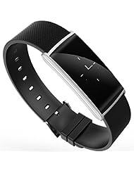 Kebaina N108 Fitness Tracker, Monitor de Presión Arterial y Oxígeno, Monitor de Frecuencia Cardíaca, Pulsera de Actividad a Prueba de Agua IP67 para Android IOS,Plata