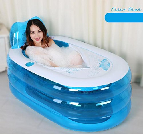 OOFWY Baignoire gonflable épaissie adulte Baignoire pliant bain Barrel plastique Baignoire bain Barils bain Barils (Envoyer Air Pump) , C , L