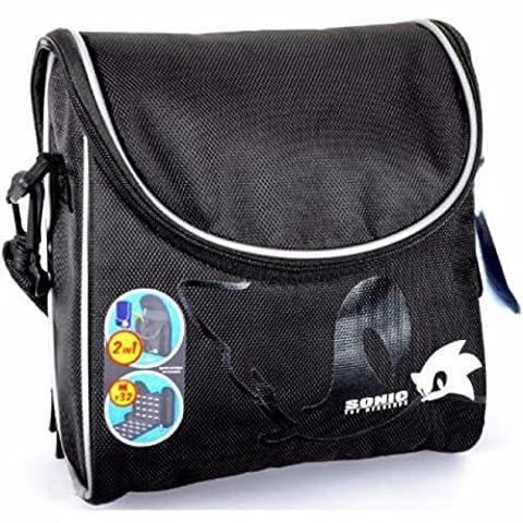 Sonic The Hedgehog Gamer Travel Bag Carry Case Black Nintendo 3DSDSi & DS Lite - Removable slimline console case