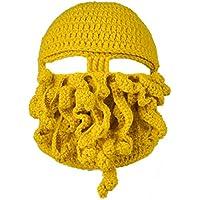 Belsen Cappello NEUTRO calamarofatto a mano polpo berretto di lana