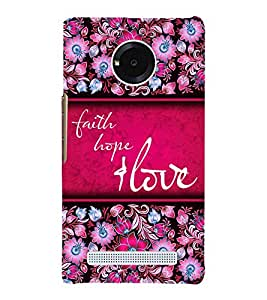 Faith Hope Love 3D Hard Polycarbonate Designer Back Case Cover for YU Yureka Plus