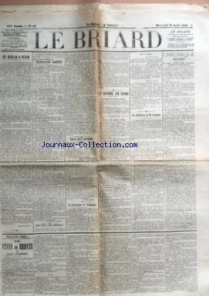 BRIARD (LE) [No 66] du 29/08/1900 - DE BERLIN A PE...
