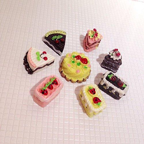 Tia-Ve 8PC sabores Surtidos de Chocolate Fresa Tartas Cereza casa de muñecas en Miniatura