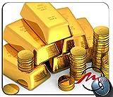ZMvise Gold Bullion Coins White Background Money Motif Vêtement Populaire Dessin animé Tapis de Souris Siège Coutume Rectangle Jeu Tapis de Souris...