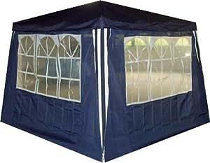 seitenteile mit fenster f r pavillon pavillion in blau 2 st ck. Black Bedroom Furniture Sets. Home Design Ideas