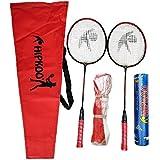 Hipkoo Full Badminton Kit (2 Racket, Pack of 10 Shuttlecocks and Net) Badminton Kit