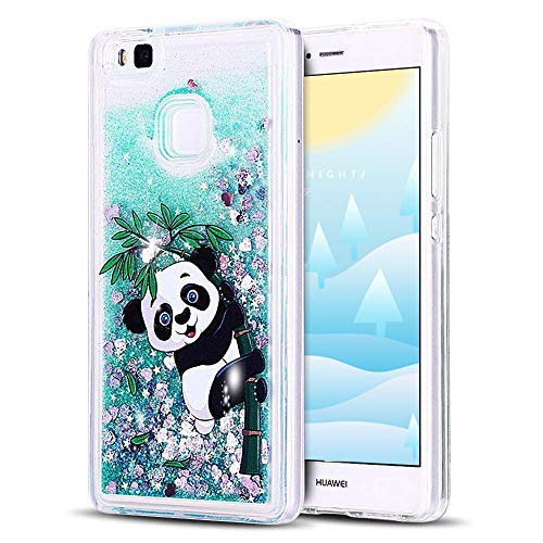 7e036586bdc TVVT Huawei P9 Lite Funda, Azul Glitter Líquido Arenas Moviendo Estrellas  Lentejuela Carcasa Transparente Suave