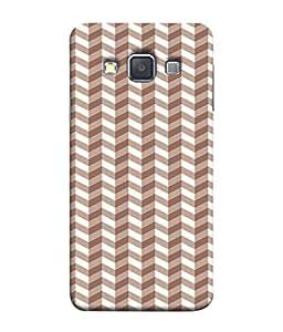 PrintVisa Designer Back Case Cover for Samsung Galaxy A3 (2015) :: Samsung Galaxy A3 Duos (2015) :: Samsung Galaxy A3 A300F A300Fu A300F/Ds A300G/Ds A300H/Ds A300M/Ds (Wavy Design In Brown)