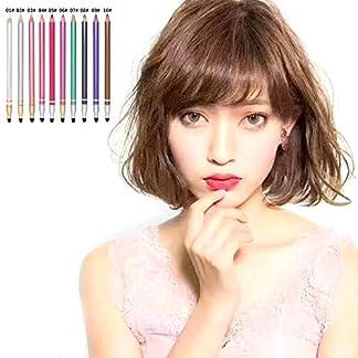 creatspaceES Lápices delineadores de ojos coloridos impermeables Secado rápido Lápiz delineador de ojos de cabeza delgada y duradera Herramientas de maquillaje Color: blanco