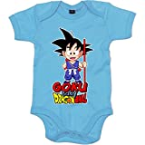 Body bebé Dragon Ball baby Goku - Celeste, 6-12 meses
