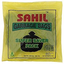 Sahil Black Tie-String (30 Ltr) Garbage Bags