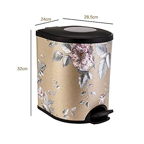 Trash the kitchen living room bathroom suite wastepaper basket cylinder Silver,Half round foot garbage