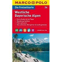 MARCO POLO Freizeitkarte Westliche Bayerische Alpen 1:100.000