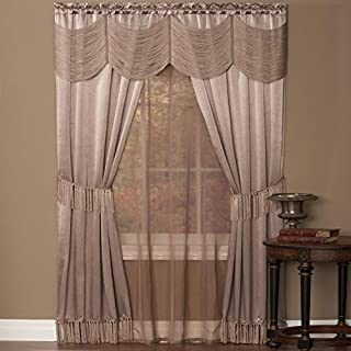 Achim Home Furnishings Halley Window in a Bag, 56-Inch by 84-Inch, Mauve