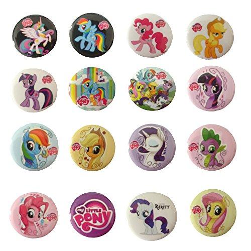My Little Pony 11/10,2cm Badge Button Pin Button Set, 16-pcs
