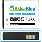 Akku-King Battery compatible with ISAW A1, A2 Ace, A3, Extreme, Actionpro X7 - Li-Ion 1200mAh