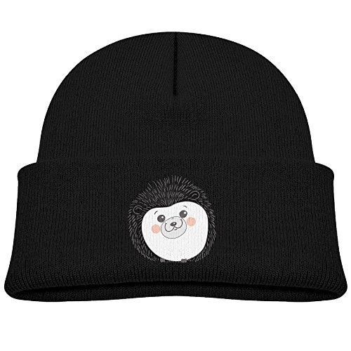 Boys&Girls Outdoor Sports Knit Cap Hedgehog Fashion Printed Child Watch Hat Black