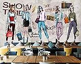 HYF Wallpaper Sfondo di Abbigliamento da Lavoro Soggiorno Camera da Letto TV Murale 3D Carta da Parati, 400 * 280 Cm