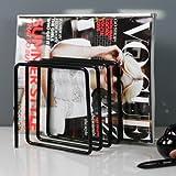 Block Zeitschriftenständer, schwarz - 2