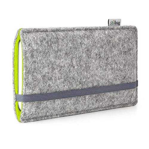 stilbag Handyhülle Finn für Samsung Galaxy S9 Plus | Farbe: hellgrau/apfelgrün | Smartphone-Tasche aus Filz | Handy Schutzhülle | Handytasche Made in Germany (Heap Handys)
