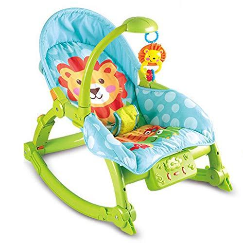 Tcaijing Babyschaukel Baby, Schaukelstuhl, Sessel Stuhl, Babybett, Wiege Bett, elektrischer Schaukel Kinder faltbar