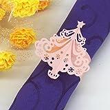 hunpta de Noël serviette anneaux Porte-serviettes en papier pour mariage banquet Table pour décorer rose