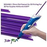 DEWANG 3D-Drucker Filament-40 Str?nge 1.75mm PLA Kunststoff f¨¹r 3D Drucker Zeichnung,Violett